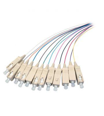 OS2 glasvezel pigtail gekleurde set SC/PC - 12 stuks