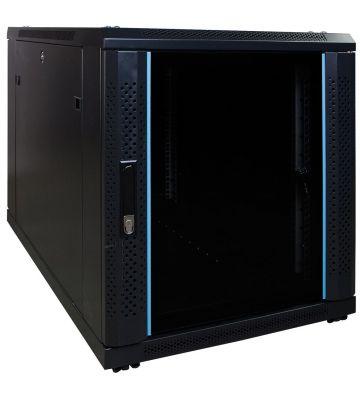 12U minikast met glazen voordeur 600x1000x720mm