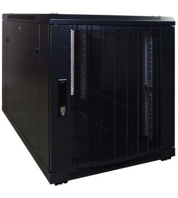 12U minikast met geperforeerde voordeur 600x1000x720mm