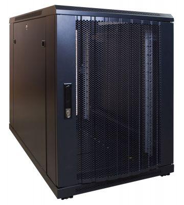15U minikast met geperforeerde voordeur 600x1000x770mm