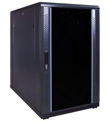 18U serverkast met glazen voordeur 600x1000x1000mm