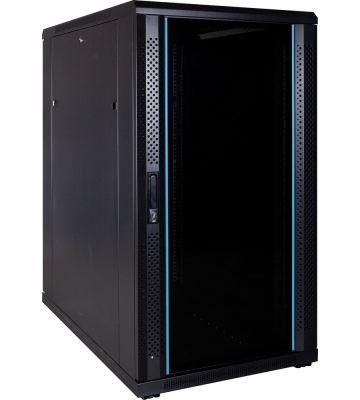 22U serverkast met glazen voordeur 600x1000x1200mm