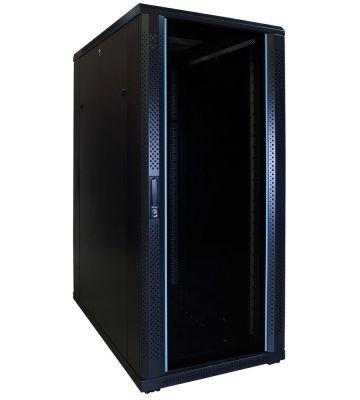 27U serverkast met glazen voordeur 600x1000x1400mm