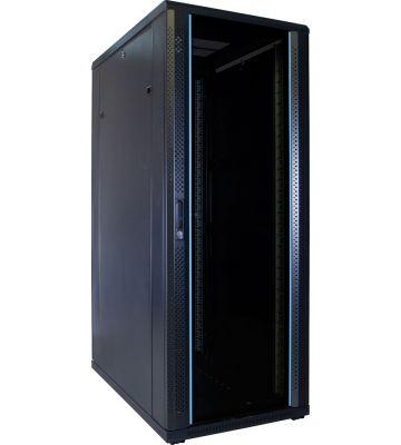 32U serverkast met glazen voordeur 600x1000x1600mm