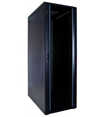 37U serverkast met glazen voordeur 600x1000x1800mm