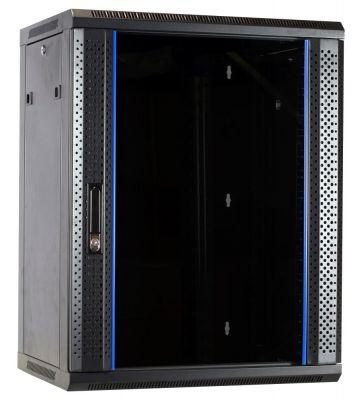 15U wandkast met glazen voordeur 600x450x770mm - ongemonteerd