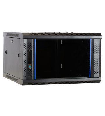6U wandkast met glazen voordeur 600x600x368mm