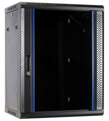 15U wandkast met glazen voordeur 600x600x770mm