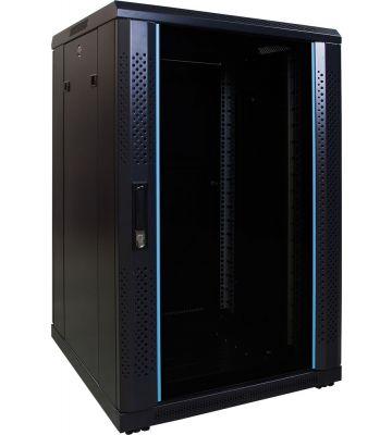 18U serverkast met glazen voordeur 600x600x1000mm