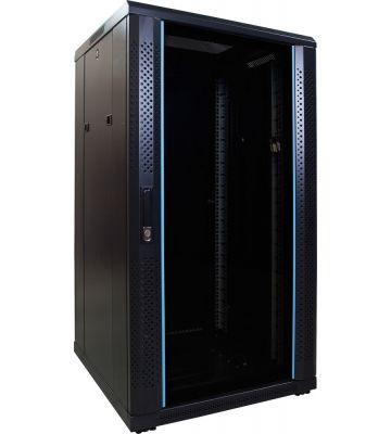 22U serverkast met glazen voordeur 600x600x1200mm