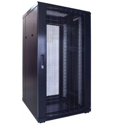 22U serverkast met geperforeerde voordeur 600x600x1200mm