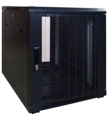 12U minikast met geperforeerde voordeur 600x600x720mm