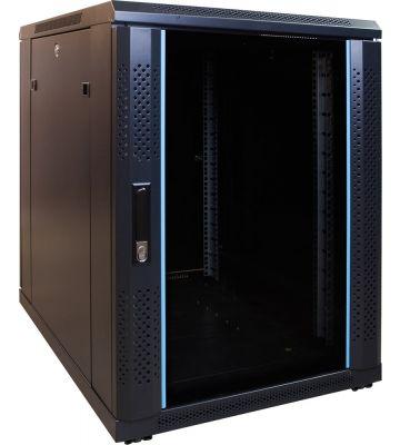 15U minikast met glazen voordeur 600x600x770mm