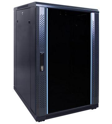 18U serverkast met glazen voordeur 600x800x1000mm