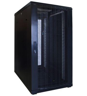 22U serverkast met geperforeerde voordeur 600x800x1200mm