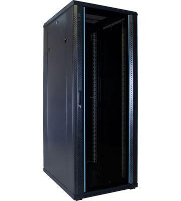 32U serverkast ongemonteerd met glazen voordeur 600x800x1600mm