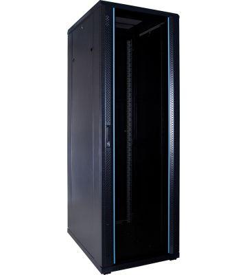 37U serverkast met glazen voordeur 600x800x1800mm