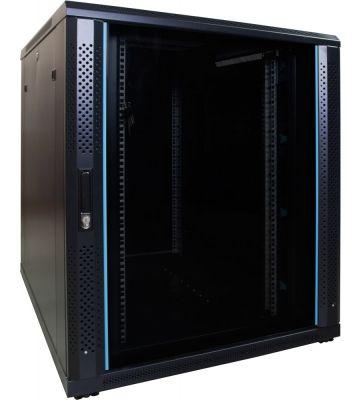 18U serverkast met glazen voordeur 800x1000x1000mm