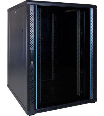 22U serverkast met glazen voordeur 800x1000x1200mm