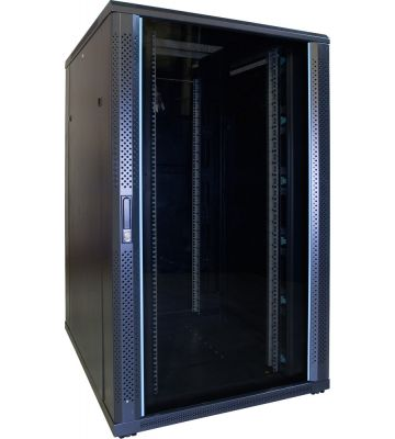 27U serverkast met glazen voordeur 800x1000x1400mm