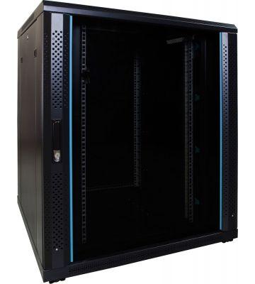 18U serverkast met glazen voordeur 800x800x1000mm
