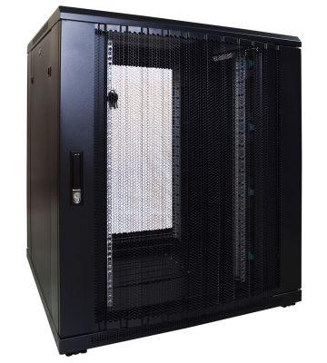 18U serverkast met geperforeerde voordeur 800x800x1000mm