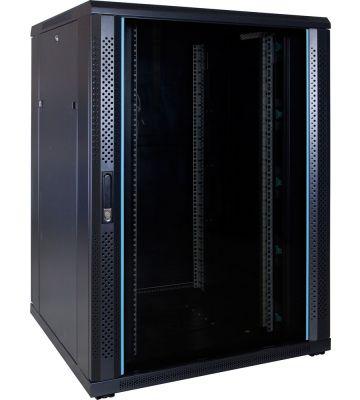 22U serverkast met glazen voordeur 800x800x1200mm