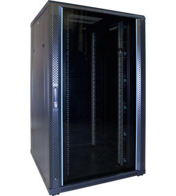27U serverkast met glazen voordeur 800x800x1400mm