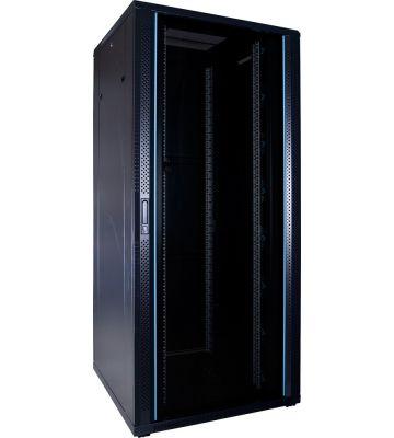37U serverkast met glazen voordeur 800x800x1800mm