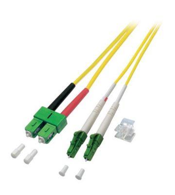 OS2 duplex glasvezel kabel LC/APC-SC/APC 15m
