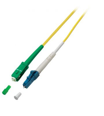 OS2 simplex glasvezel kabel SC/APC-LC 2m