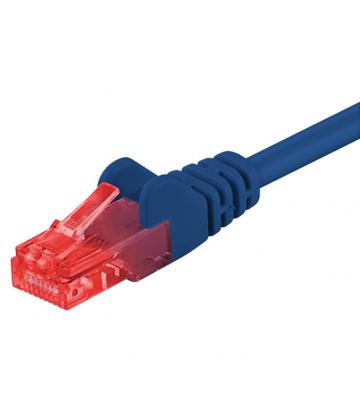 CAT6 UTP 0,25m blauw - CCA