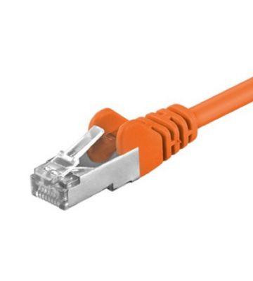 CAT5e FTP 0,25m oranje