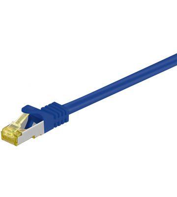 Cat7 SFTP/PIMF 0,25m blauw