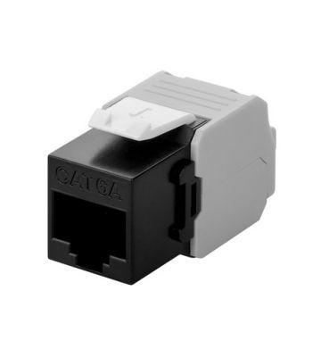 CAT6a UTP Keystone Connector - Toolless - Zwart