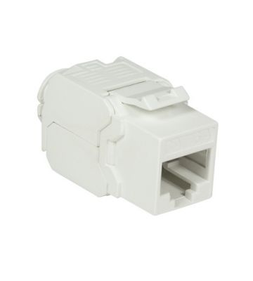 CAT6a UTP Keystone Connector - Toolless - Wit