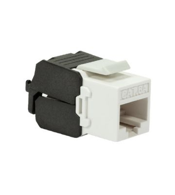 CAT6a UTP Keystone Connector - Toolless - Zwart/Wit