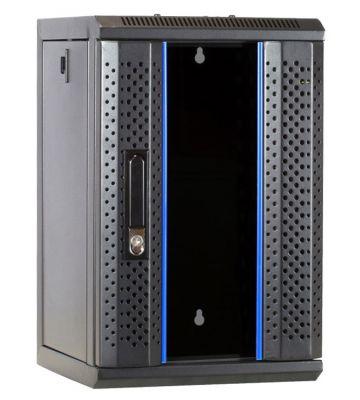 9U serverkast (10 inch) met glazen voordeur 312x310x486mm
