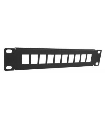 10 Inch UTP patchpaneel voor keystones - 10 poorts