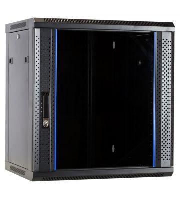 12U wandkast met glazen voordeur 600x450x635mm - ongemonteerd