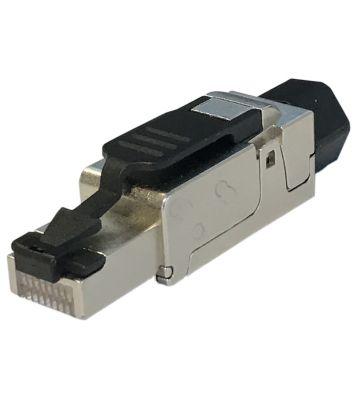 SFTP PiMF CAT6, 6A / 7 Toolless RJ45 Connector 10 gigabit - voor stugge kern