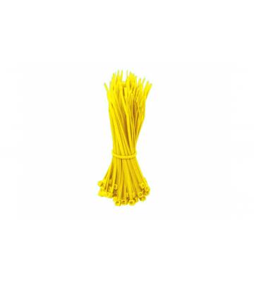 Kabelbinders 140mm geel - 100 stuks