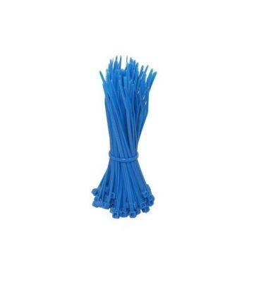 Kabelbinders 140mm blauw - 100 stuks