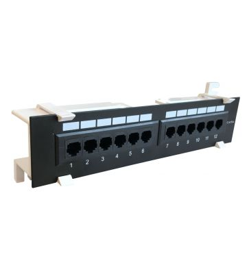 CAT6a UTP Wallmount Patchpaneel - 12 poorts