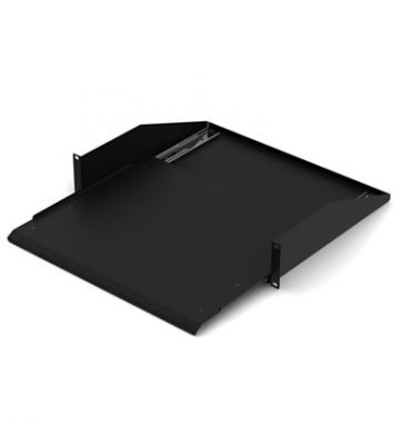 Uitschuifbaar legbord 1U voor minimaal 600mm diepe serverkast