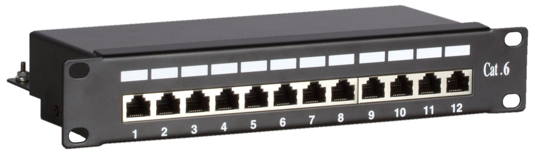 Afbeelding van 10 Inch CAT6 FTP patchpaneel - 12 poorts